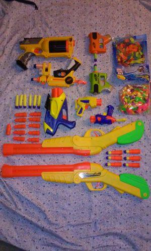 Nerf gun lot plus 17 darts and 17 shells for Sale in Laurel, DE