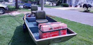 12'Boat with new trailer motor battery for Sale in Glassboro, NJ