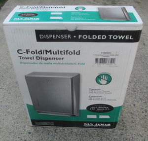 SAN JAMAR T1900XC MULTI-FOLD/ C-FOLD TOUCHLESS PAPER TOWEL DISPENSER NEW NICE! for Sale in Lake Elsinore, CA