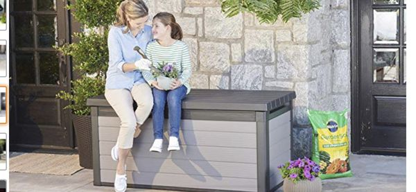 New Keter Premier 150 Gallon Deck Storage Container Box for outside patio furniture