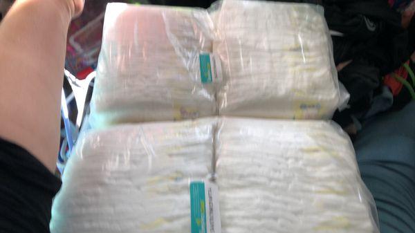 Diaper bag and newborn diapers