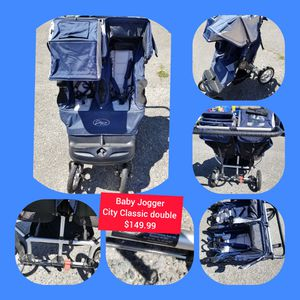 Baby Jogger City Classic double stroller Jogger Jogging for Sale in Seattle, WA