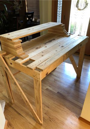 Stand up desk from repurposed artwork crates for Sale in Federal Way, WA