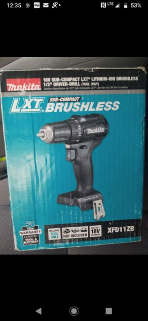 Makita compact drill brushless new (( no charger no battery)) for Sale in Modesto, CA