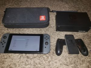 Nintendo switch with dock and joycon grip plus case for Sale in Carrollton, TX