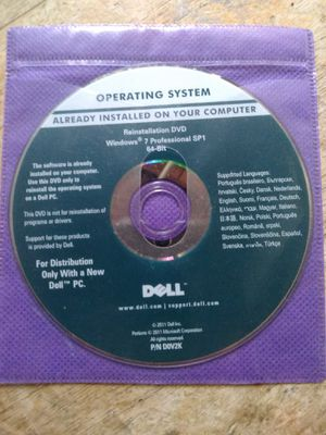 Dell Windows 7 Professional SP1 Reinstallation DVD for Sale in Fullerton, CA