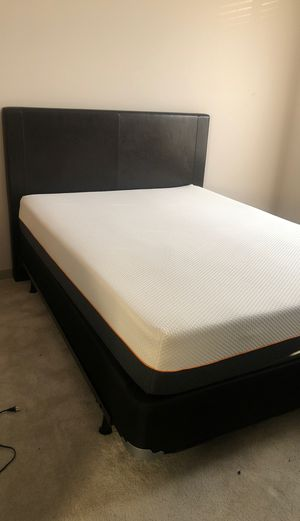 Queen bed frame & mattress for Sale in Franklin, MA