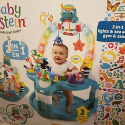 Baby einstein 2 In 1 Lights And Sea Activity Gym And Saucer for Sale in Jackson Township,  NJ