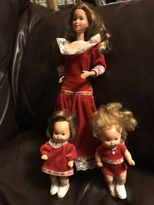 Vintage Christmas Heart Family Barbie and Babies for Sale in San Leandro, CA