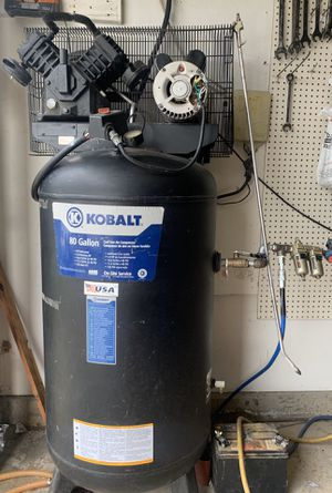Kobalt 80 gallon, 5 horsepower air compressor for Sale in Bakersfield, CA