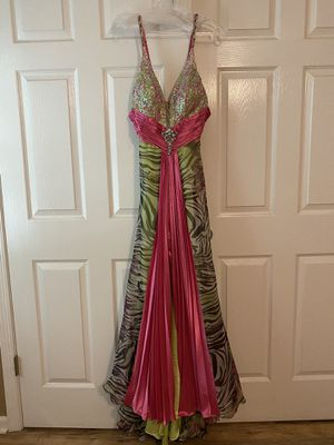 Hot pink and lime green prom dress for Sale in Lakehurst, NJ