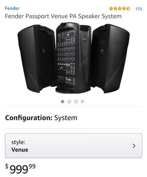 FENDER PORTABLE PA SOUND SYSTEM for Sale in Hamilton, OH