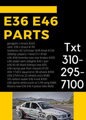 E36 E46 aftermarket oem parts super sale track drift race for Sale in Vista, CA
