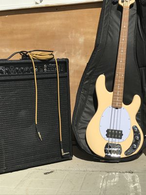 Sterling SUB Stingray Bass Guitar & bass combo amp BUNDLE for Sale in El Monte, CA