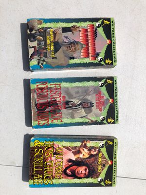 Wu Tang Collection VHS vintage movies (3) for Sale in Sudley Springs, VA