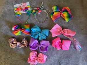 JoJo Siwa Bows and Headbands 10 Pieces for Sale in Los Angeles, CA