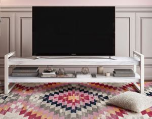 White Marble TV Stand for Sale in Bethesda, MD