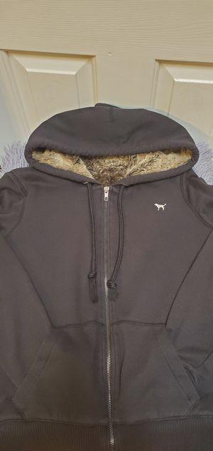 Gently Used Black & Brown Victoria's Secret Pink VS Full Zip Hoodie Sweater Medium $42.00 for Sale in Gardena, CA