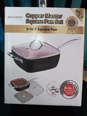"Square pan set copper master. 9 1/2"" for Sale in Los Angeles, CA"