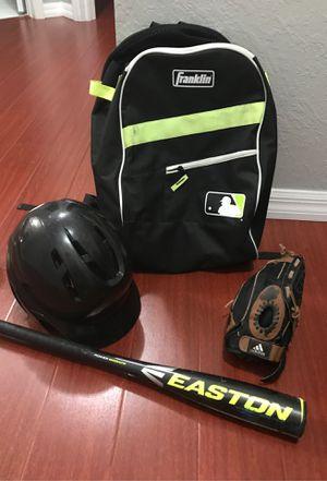 Boys baseball helmet, glove, bat & backpack for Sale in Miami Gardens, FL