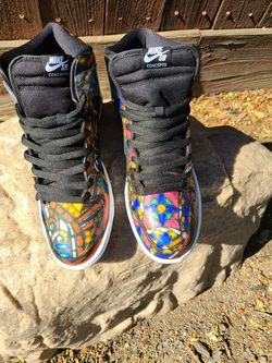 Nike SB Stained Glass & Candy Canes Size 12/11.5 for Sale in Roseville, CA