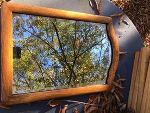 Antique oak beveled glass mirror for Sale in Durham, NC