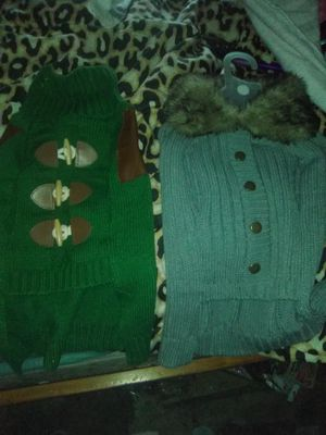A mixed collection of Dog sweaters for Sale in Modesto, CA