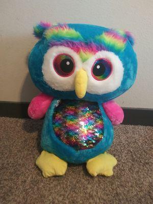 rainbow owl big stuffed animal for Sale in Austin, TX