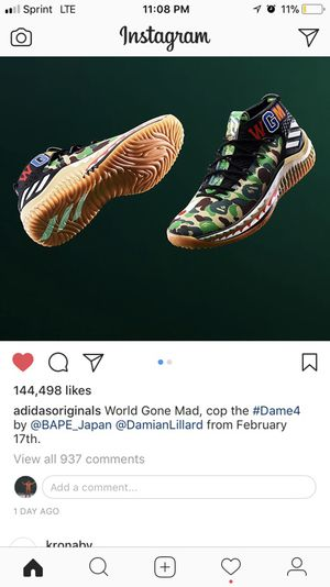 Size 10 bape x dame for Sale in Bakersfield, CA