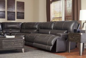 Ashley McCaskill Gray Leather Reclining Sectional (Brand New) for Sale in Annapolis, MD