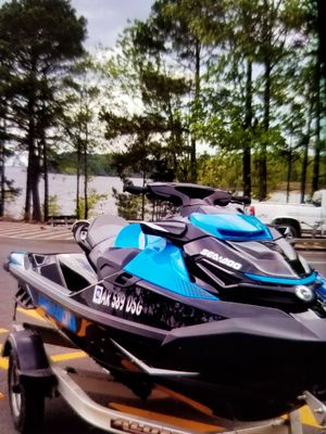 2018 SEA DOO WITH BLUETOOTH SPEAKERS with trailer brand new spare tire Trade SEA DOO FOR A CAMPER for Sale in Prescott, AR