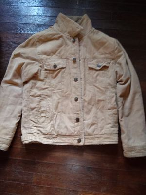 Mens Areopostale corduroy coat with sheep fur lining. Very good condition for Sale in Washington, DC