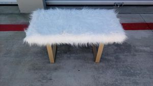 Modern Fur Topped Bench - Vanity Seat - Like New for Sale in Murrieta, CA