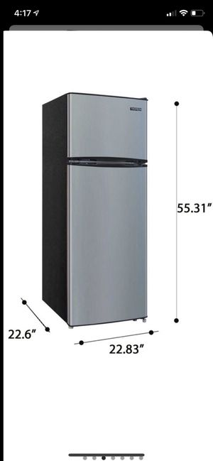 New in box Factory sealed new in box refrigerator/freezer 7.5 cu. ft. Top-Freezer Refrigerator is perfect choice for those looking for a compact refr for Sale in Fresno, CA
