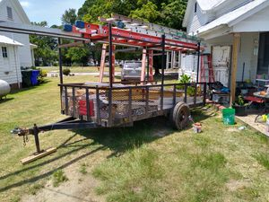 12 x 6 trailer with ladder racks for Sale in Benson, NC