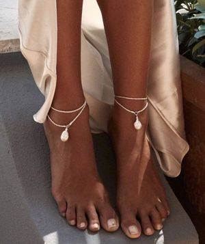 sterling silver + pearl anklets for Sale in Mount Prospect, IL
