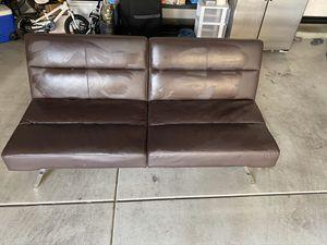 Futon leather sofa for Sale in Irvine, CA