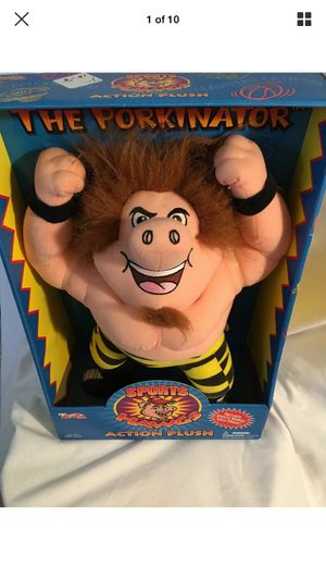 Sports Hawgs THE PORKINATOR Wrestling Action Plush Buddy Toy Box 1998 Collect for Sale in Escondido, CA