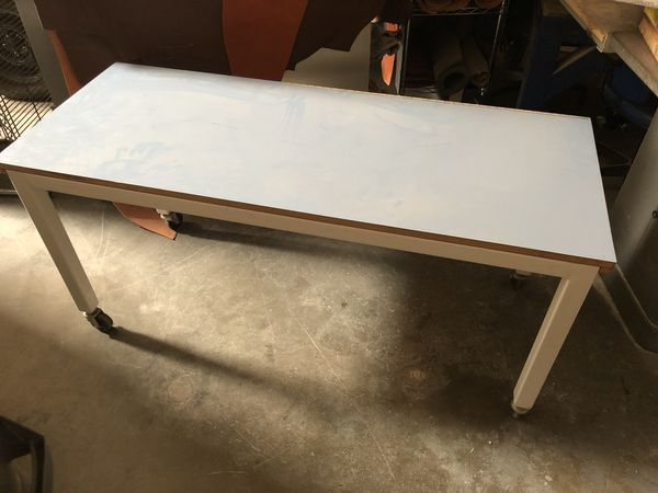 Workshop Table - Steel construction, very sturdy - Powdercoated
