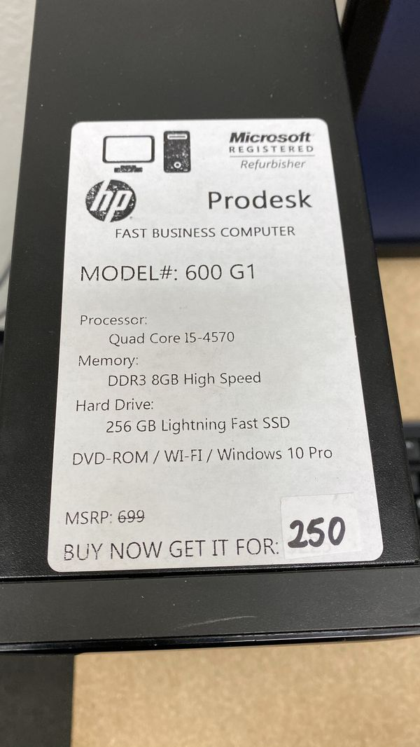 """Renew HP ProDesk 600 G1 Intel i5 4th Gen Computer with 22"""" LCD Monitor Keyboard Mouse Combo for Business School Home"""