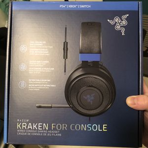 Razer Kraken Gaming Headset BRAND NEW- PC, PS4, PS5, Switch, Xbox One, Xbox Series X for Sale in Alexandria, VA