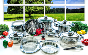 BRAND NEW Rainbow 22 Pc St Stainless Steel Waterless Cookware Set $2500 MSRP for Sale in Linden, VA