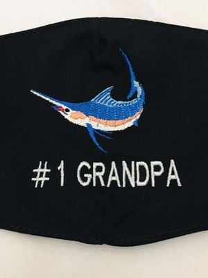 Face Mask QUALITY Mexico Embroidered Marlin fish with filter like 3D for Sale in Edinburg, TX