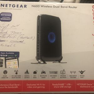 Netgear N600 Wireless Dual Band Router for Sale in Monterey, CA