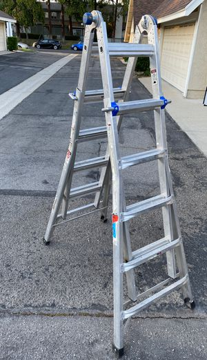 WERNER 22 ft. Reach Aluminum Telescoping Multi-Position Ladder with 300 lbs. Load Capacity Type IA Duty Rating for Sale in Ontario, CA