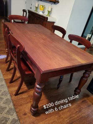 Dining table with 6 chairs for Sale in Phoenix, AZ