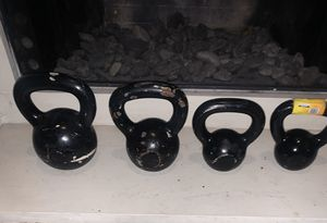 Kettle bells, dumbbells, weights, pesas, gym equipment for Sale in Dallas, TX
