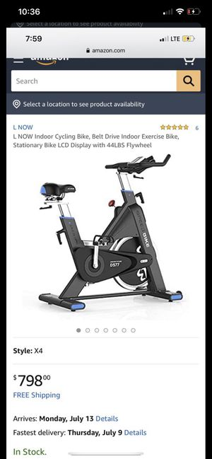 L NOW Indoor Cycling Bike, Belt Drive Indoor Exercise Bike ( new in one of the side has some loading scratches) for Sale in Dublin, OH