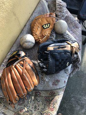 2 Baseball Gloves and Catcher's Mitt for Sale in Austin, TX