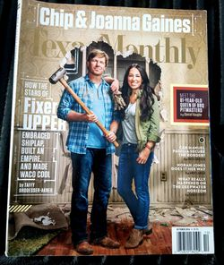 Texas monthly Magazine Fixer Upper Chip Joanna GAINES ISSUE for Sale in Waco,  TX